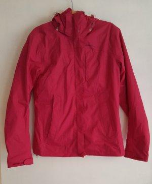 Regenjacke in sattem Pink mit Kapuze