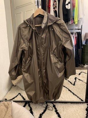 Zara Woman Regenjas khaki-zilver