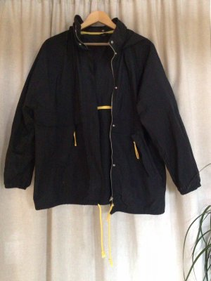 Topshop Heavy Raincoat black-yellow