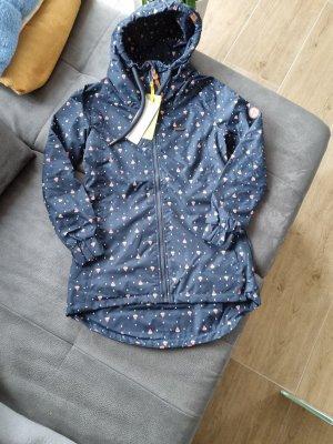 Alife & Kickin Raincoat dark blue-blue
