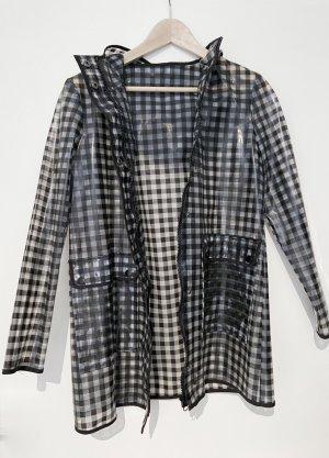 New Look Manteau de pluie noir-blanc polyuréthane