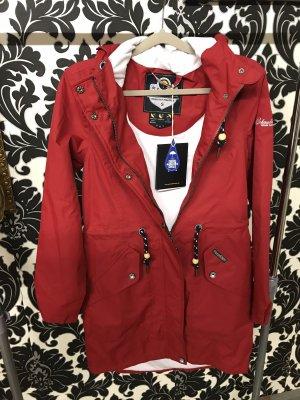 Schmuddelwedda Płaszcz przeciwdeszczowy czerwony-ceglasty