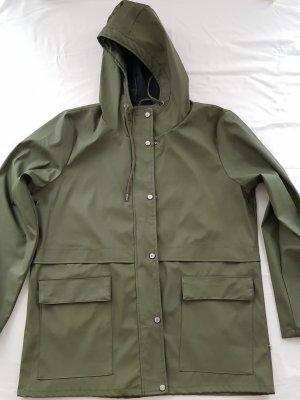 Zware regenjas khaki-groen-grijs