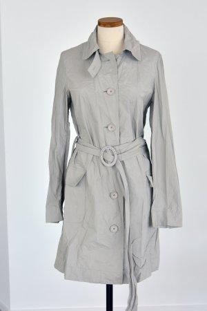Armani Jeans Impermeabile pesante grigio chiaro-bianco Polipropilene