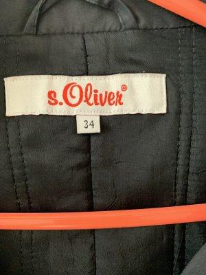 s.Oliver Zware regenjas zwart