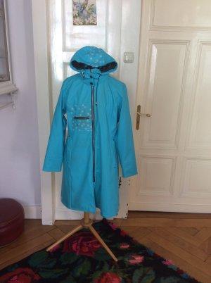 Heavy Raincoat turquoise polyurethane