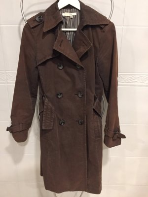 Zara Heavy Raincoat dark brown