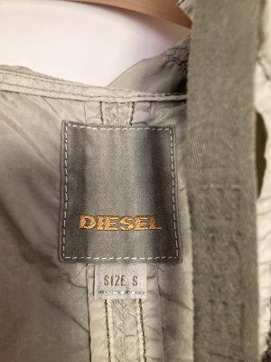 Diesel Heavy Raincoat sage green nylon