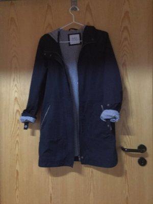 Edc Esprit Hooded Coat white-dark blue