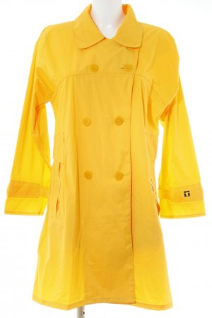 Heavy Raincoat gold orange check pattern classic style