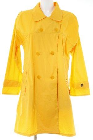 Zware regenjas goud Oranje geruite print klassieke stijl