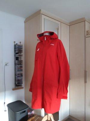 Bergans of Norway Impermeabile pesante rosso-bianco Tessuto misto