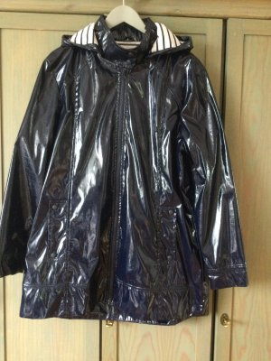 Heavy Raincoat dark blue-white