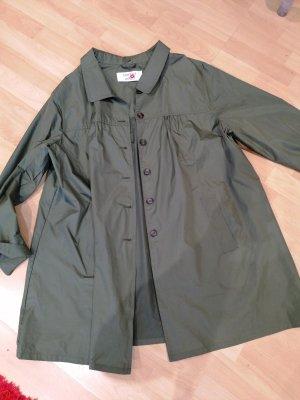 Made in Italy Zware regenjas olijfgroen-khaki