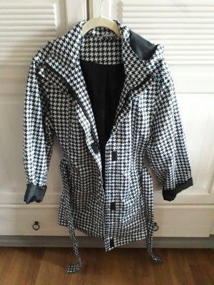 Blue Motion Płaszcz przeciwdeszczowy czarny-biały Poliester