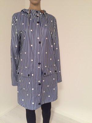 Tom Tailor Manteau de pluie bleu-blanc
