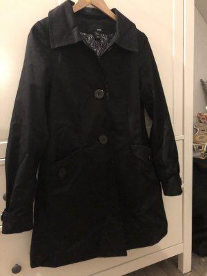 H&M Basic Manteau de pluie noir