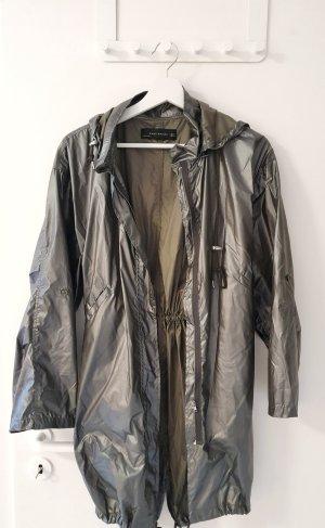 Zara Manteau de pluie argenté-gris vert