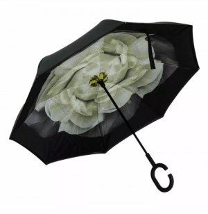 Walking-Stick Umbrella black