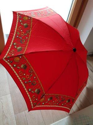 Christian Dior Paraguas plegable rojo-rojo ladrillo