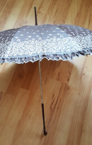 ohne Marke Walking-Stick Umbrella brown-oatmeal