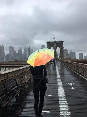 Paraguas bastón multicolor