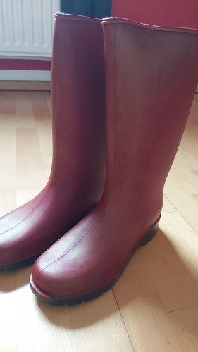 Wellies gold-colored-bordeaux