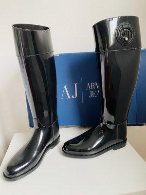 Armani Jeans Botas de agua negro