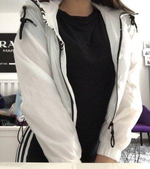 Bershka Veste à capuche blanc-noir