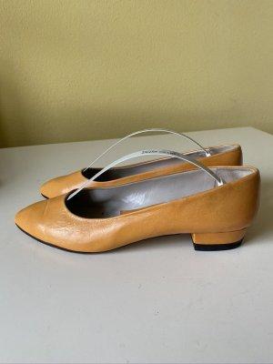 Regina Slingback ballerina's goud Oranje Leer
