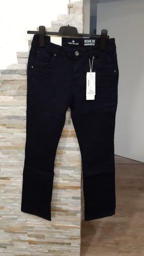 Tom Tailor Denim Jeans taille haute bleu foncé