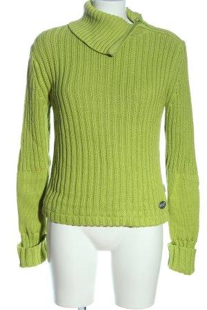 Rehall Rollkragenpullover grün Casual-Look