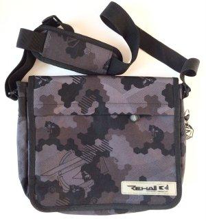 Rehall - Umhängetasche Messenger Bag Schultertasche NEU grau/schwarz Outdoor