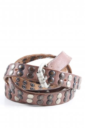 Rehard Studded Belt brown casual look