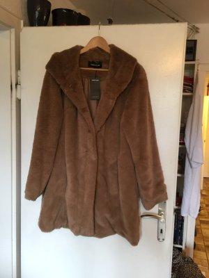 More & More Płaszcz ze sztucznym futrem jasnobrązowy