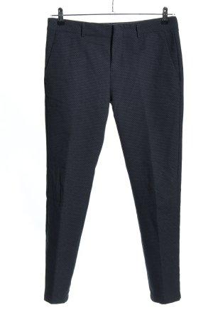 Reiko Anzughose blau-weiß Punktemuster Business-Look
