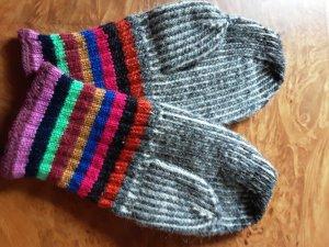 Guanto in maglia multicolore