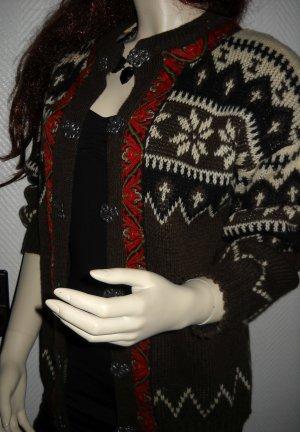 Cardigan norvégien multicolore laine