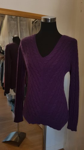 Alba Moda Pull en cashemire violet foncé