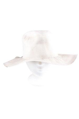 Reinhard Plank Miękki kapelusz z szerokim opuszczonym rondem biały