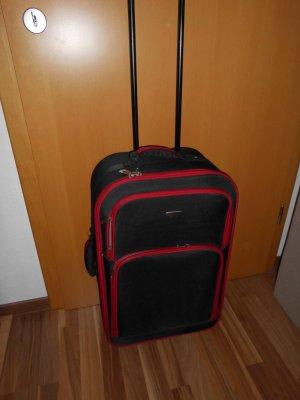 Valigia nero-rosso mattone