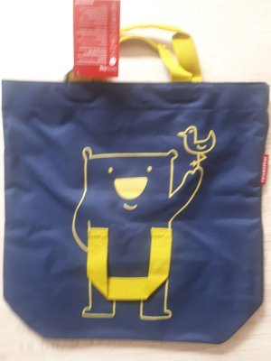 reisenthel Canvas Bag neon yellow-dark blue