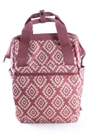 reisenthel Mini sac à dos rose-blanc imprimé allover style décontracté