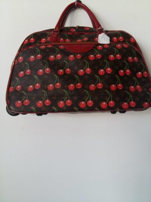 Valise Trolley bronze-rouge polyester