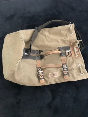 Travel Bag sand brown cotton