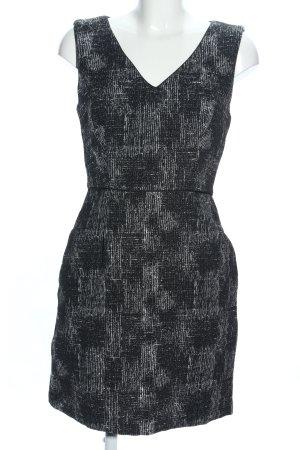 Reiss A-Linien Kleid schwarz-weiß abstraktes Muster Business-Look