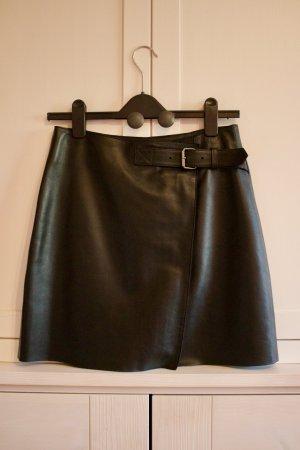 Reiss Leather Skirt black