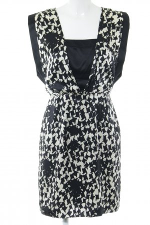 Reiss Blusenkleid schwarz-weiß abstraktes Muster Business-Look