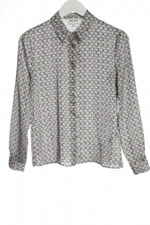 Reiss Shirt Blouse light grey abstract pattern business style