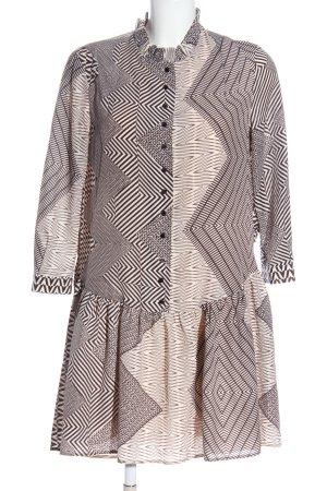 Reiss Shirtwaist dress pink-black allover print casual look